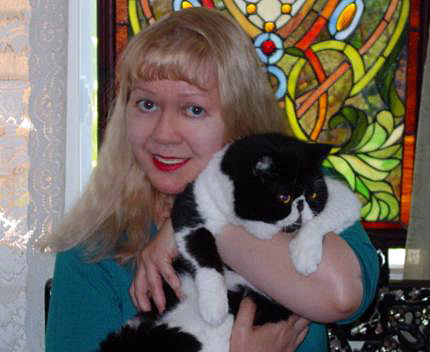 Pet Sitter Lorna with Her Cat, Bugsy